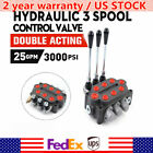 3 Spool 25gpm 3000PSI Hydraulic Directional Control Valve Double Acting 90L min