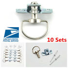 10 Set 17MM Motorcycle Quick Release 1/4 Turn Fairing Fasteners Rivet Universal