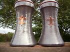 A Pair Of Arts  Crafts Pewter Vases English Pewter