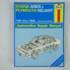 Haynes Auto Repair Manual 723 Dodge Aries & Plymouth Reliant 1981 thru 1989