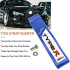 Blue TYPER Racing High Strength Universal Nylon Car Trailer Tow Ropes Strap Tow