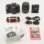 Canon EOS Rebel XSi 450D 122MP DSLR Camera EF S 18 55 IS Lens Free Shipping