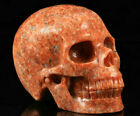 Huge 51 IN Genuine Orange Calcite Carved Crystal Skull Meditation Healing 1149