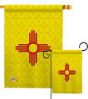New Mexico States native santa fe hispanos Garden Hosue Yard Flag