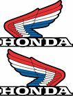 PAIR OF HONDA WING DECALS STICKERS RED WHITE BLUE 350X 200X 250R ATC 84 85 86 87