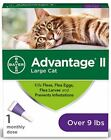 Bayer Advantage II Flea Treatment Control In 12 Hours Large Cat Cats over 9 lbs
