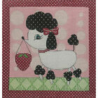 Alice Peterson POODLE TOOTH FAIRY PILLOW 10 Handpainted Needlepoint Canvas 2015