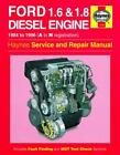 Haynes Workshop Manual Ford Diesel Engine Fiesta Escort Mondeo 1984-96 Service R