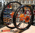 KTM MX WHEELS KTM450SXF 04-14 SET EXCEL TAKASAGO RIMS FASTER USA HUBS NEW