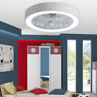 Dimmable 42Invisible Ceiling Fan Lamp Bluetooth Speaker Led Chandelier +Remote