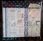 RARE Paper Studio Fabrique Scrapbook Page Kit 12x12 Retired Design French Chic