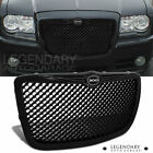 For Chrysler 300 300C Srt Black Abs Front Mesh Grille Grill Logo Emblem Upgrade