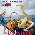 US Interchangeable 12BB Ball Bearing Saltwater Freshwater Fishing Spinning Reel