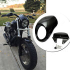 Black Front Cowl Headlight Fairing For Harley Sportster 883 1200 Dyna FX Racer
