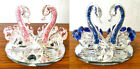 Crystal Swan Ornaments Twin Glass Crushed Filled Crystal Elements Gift Present