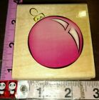 Red Christmas ornament stampabilitiesb4woodrubber stamp
