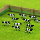60pcs 1150 N Scale Well Painted Farm Animals Cows White Black AN15001