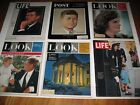 (18)  Elvis, Pee Wee & John F. Kennedy Magazines Life Look Post 1963 Nice Shape