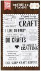 Echo Park Photopolymer Stamps Set Eat Sleep And craft 13 Pc Set