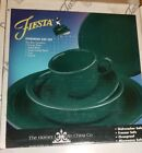 Homer Laughlin Fiesta Evergreen 5 Piece Place Setting 830 829 Retired