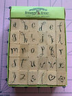 EK Success Image Tree Loopy Letters Alphabet Stamp Set 30 pieces Heart Flower