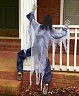 White Climbing Zombie 63 Life Size Haunted House Prop Halloween Decoration