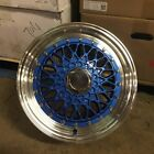 15 RS STYLE WHEELS RIMS BLUE FITS TOYOTA ECHO PRIUS C MR2