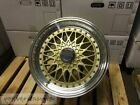 15 RS STYLE WHEELS RIMS GOLD FITS E30 BMW 3 SERIES TOYOTA YARIS TERCEL