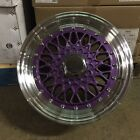 15 RS STYLE WHEELS RIMS PURPLE FITS TOYOTA ECHO PRIUS C MR2