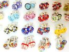 10 20 Pairs Hand Made Murano Glass Millefiori Cufflinks Wholesale Bulk Buy
