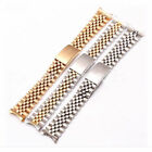 Hollow Curved End Solid Links Jubilee Bracelet Watch Band Strap 13/19/20/21