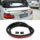Carbon Fiber Universal Spoiler Rubber Rear Roof Trunk Molding Lip Sport Wing 3M