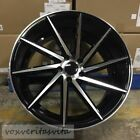 20 BLACK SWIRL STYLE STAGGERED WHEELS FITS INFINITI M35 M35X M37 M37X Q70