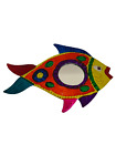 Wall Hanging Tin Fish with Mirror Mexican Handmade Home Decor Pez con Espejo