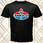 Amoco Oil Famous Company Logo Men's Black T-Shirt Size S - 3XL
