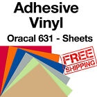 10 Sheets 12x12 Oracal 631 matte Adhesive back Vinyl craft hobby sign cutters