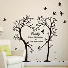 Family Love Tree Quotes Wall Sticker Art Living Room Removable Decals Removable