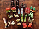 Lot of 27 Piece Vintage Salt and Pepper Shakers 12 Sets 3 Singles