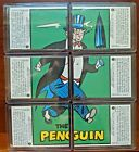 1989 Topps Batman 1966 re-issue - All 6 Penguin Puzzle Back Cards - #29a - #34a