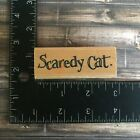 Penny Black Scaredy Cat Halloween Rubber Stamp