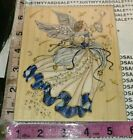 Stamps happen angel of Harmony huge blue white916rubber stamp wood