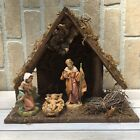 Fontanini 5 Piece 5 Heirloom Nativity Set with Stable Mary Joseph Baby Jesus