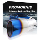 76mm Burn Blue Stainless Steel Exhaust Tail Pipe Muffler Tip Throat Universal