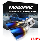 Burn Blue Stainless Steel Bend Exhaust Tail Pipe Muffler Tip Throat Universal