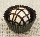 Hulet Glass Vanilla  ChocolateTruffle Bon Bon Handmade Glass 16 056VC