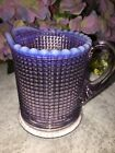 Pattern Glass Creamer Amethyst Opalescent 1899 1902 Ribbed Spiral Flint Albany