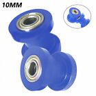 Blue 2PCS Motorcycle Dirt Pit Bike Chain Roller Slider Tensioner Wheel Guide