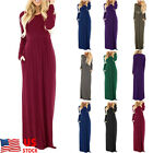 US Women Lady Maxi Dress Evening Party Beach Casual Long Evening Party Sundress