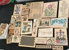 Vintage LOT Rubber STAMPS Assortment Size And Designs