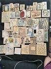 Vintage LOT Rubber STAMPS Assortment Size And Designs Large